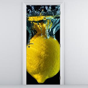 Fototapeta na dveře - Citrón ve vodě (D014797D95205)