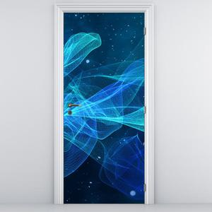 Fototapeta na dveře - Modrá abstrakce (D014798D95205)