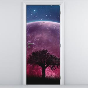Fototapeta na dveře - Strom před zeměkoulí (D014799D95205)