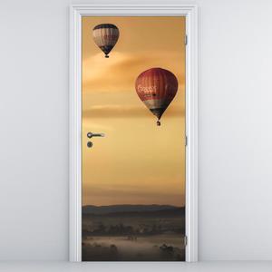 Fototapeta na dveře - Létající balóny (D014801D95205)