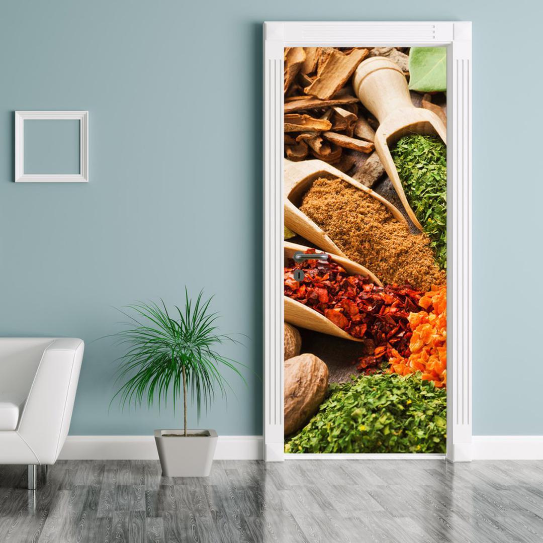 Fototapeta pentru ușă - piper colorat (D014808D95205)