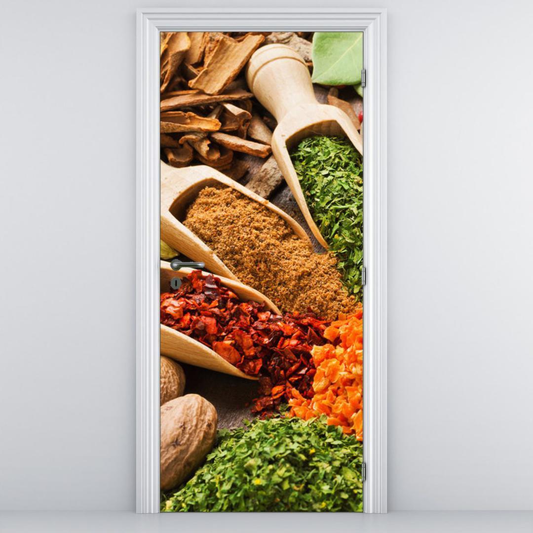 Foto tapeta za vrata - šareni začini (D014808D95205)
