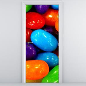 Fototapeta na dveře - barevné bonbóny (D014812D95205)