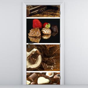Fototapeta na dveře - čokoládové bonbóny (D014813D95205)