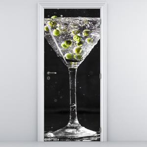 Fototapeta na dveře - sklenička s olivami (D014814D95205)
