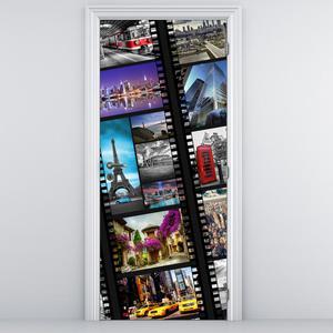 Fototapeta pentru ușă - bentiță de film (D014963D95205)