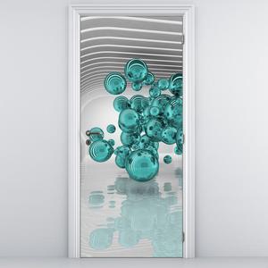 Fototapeta na dveře - abstraktní zelené koule (D014966D95205)