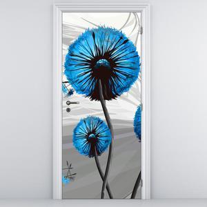 Fototapeta pentru ușă - păpădia abstractă albastră (D015055D95205)