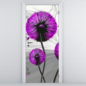 Fototapeta pentru ușă - păpădia abstractă violetă (D015122D95205)