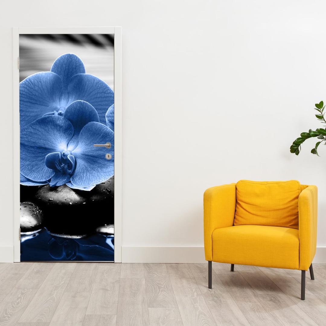 Fototapeta na dveře - modré květy (D015465D95205)