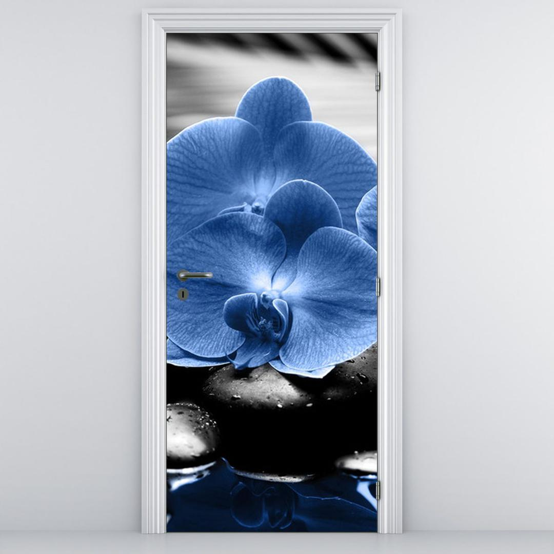 Fototapeta na dvere - modré kvety (D015465D95205)