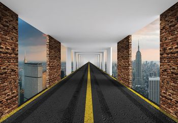 Fototapet - Autostrada 3D New York (T030038T368280A)