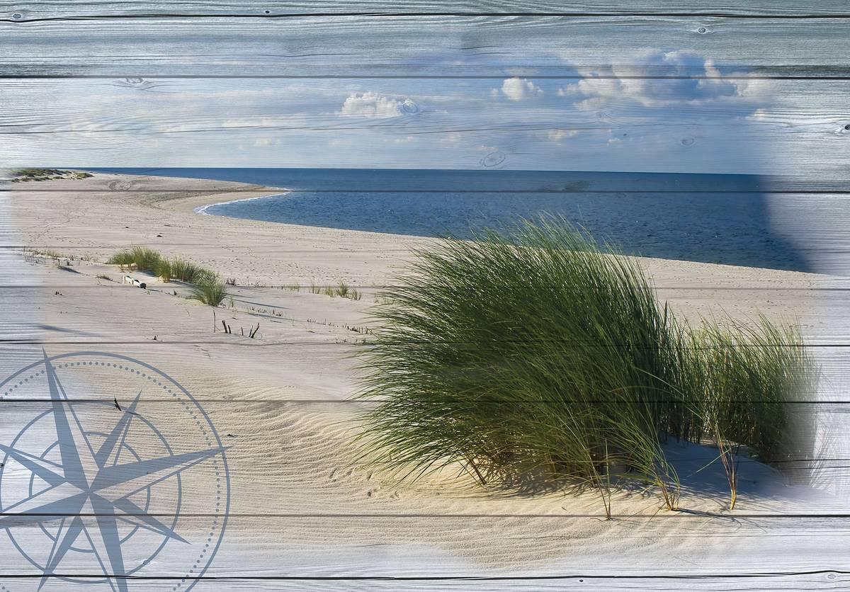 Fototapeta - Obraz pláže - imitace desky (T030046T254184A)