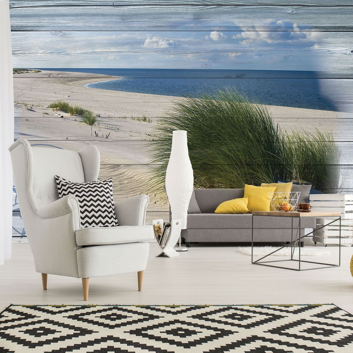 Foto tapeta - Slika plaže - imitacija ploče (T030046T254184A)