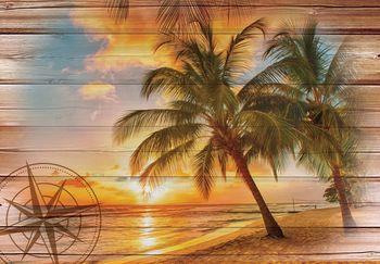 Fotótapéta - Nap a tengerparton - imitált tábla (T030048T368280A)