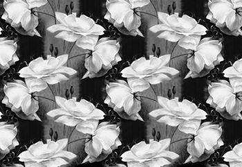 Fototapet - Ornament floral - alb negru (T030051T368280A)