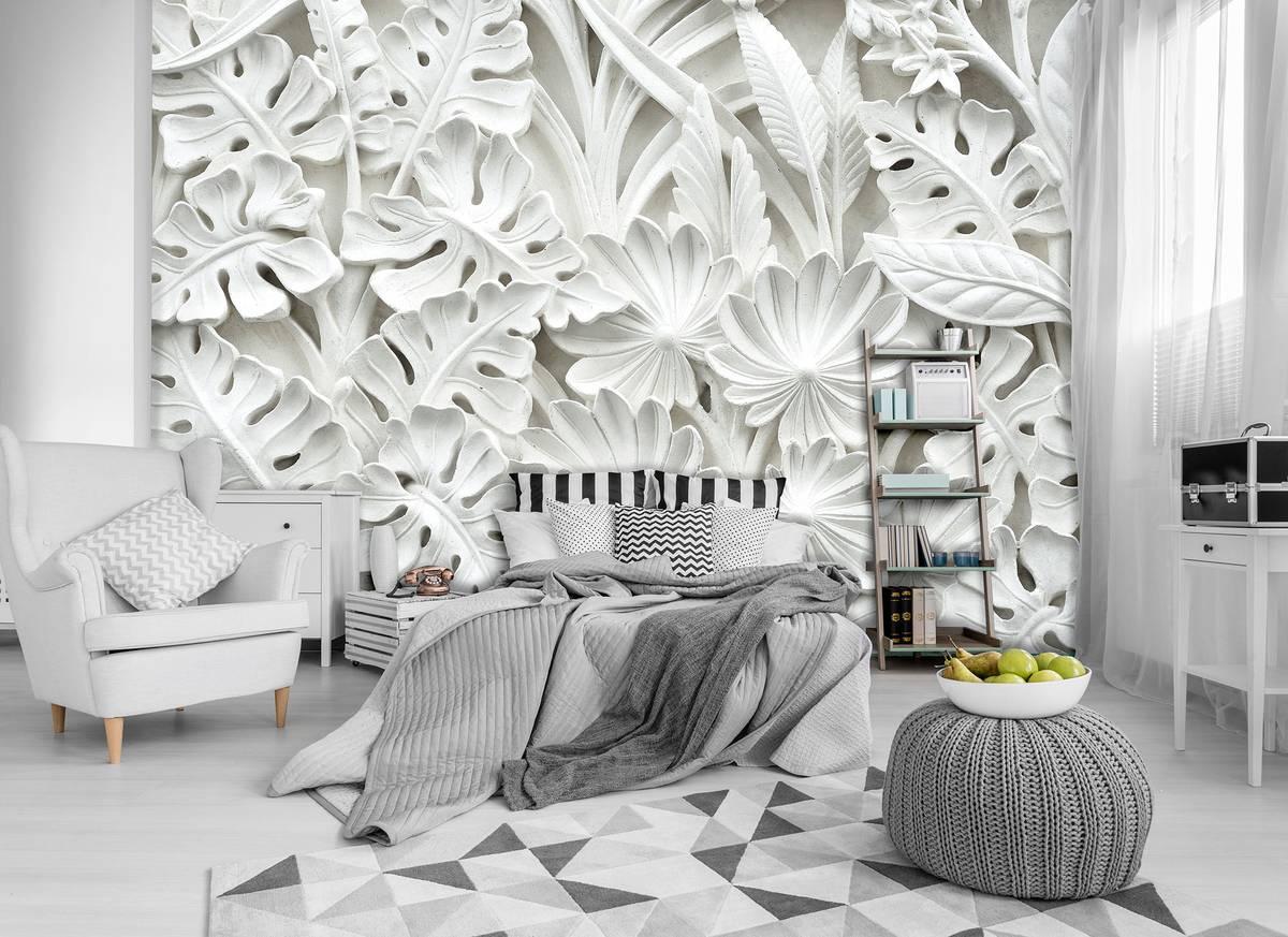 Fototapeta - Alabastrová biela abstrakcia (T030062T1525104B)