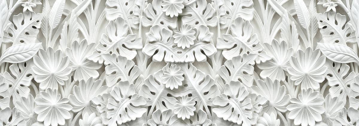 Fotótapéta - Alabástrom fehér absztrakció (T030062T1525104B)