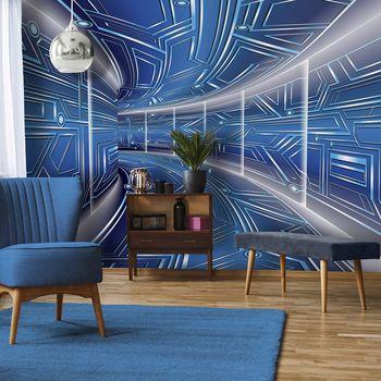 Fototapet - Coridor  albastru (T030078T368280A)
