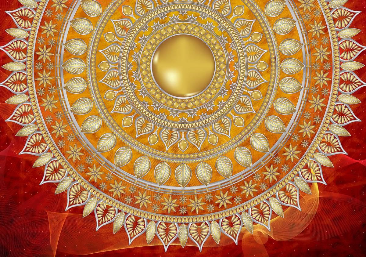 Fototapet - Mandala în roșu (T030117T1525104B)