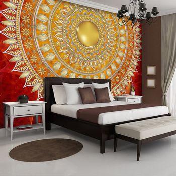 Foto tapeta - Mandala u crvenoj boji (T030117T368280A)