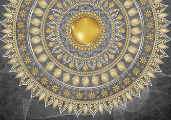 Foto tapeta - Mandala - srebrna (T030119T368280A)