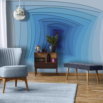 Fototapeta - Modrý tunel (T030122T368280A)