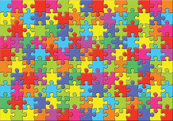 Fototapet - Puzzle colorate (T030124T368280A)