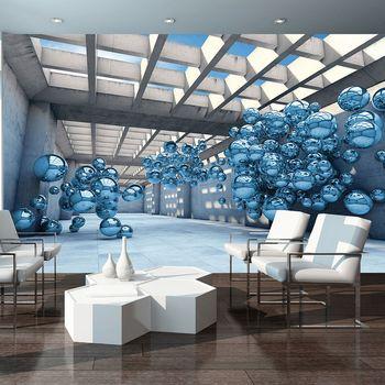 Foto tapeta - 3D plavi modernizam (T030132T254184A)