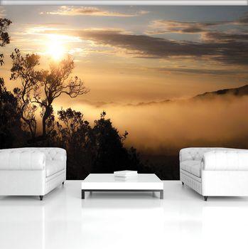 Fotótapéta - Napkelte a ködös erdő fölött (T030135T368280A)