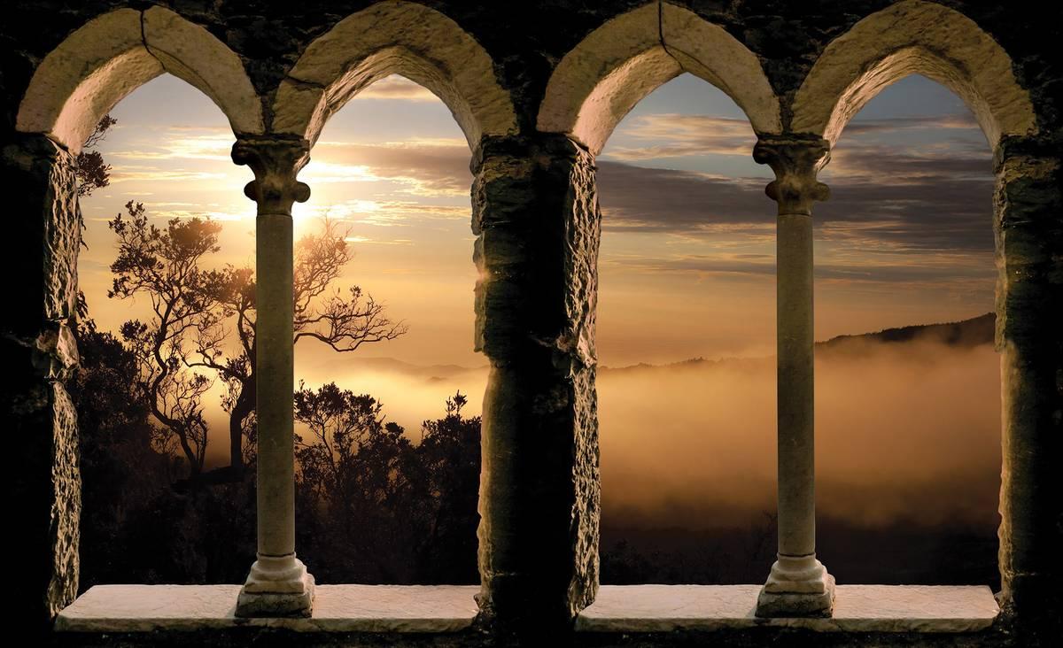 Fototapeta - Římská okna (T030136T254184B)