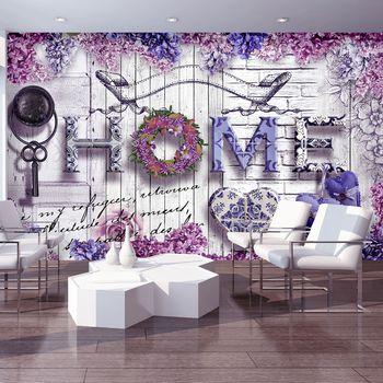 Fototapeta - Home - květinový nápis (T030205T368254A)