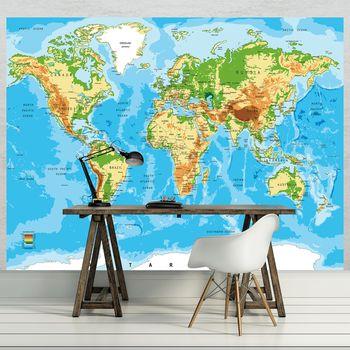 Foto tapeta - Karta svijeta (T030217T1525104B)
