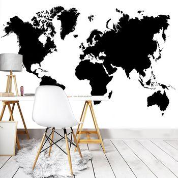 Fototapeta - Mapa černobílého světa (T030219T254184A)