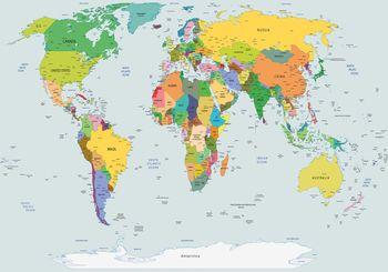 Fototapeta - Fyzická mapa světa (T030220T254184A)