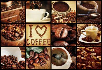 Fototapeta - I love coffee - koláž (T030249T460300A)
