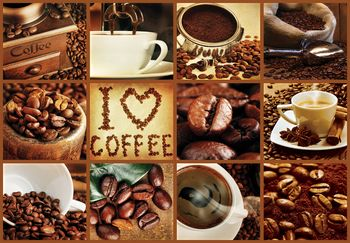 Fotótapéta - Szeretem a kávét - kollázs (T030250T368280A)