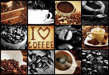 Fototapeta - I love coffee - koláž (T030252T368280A)