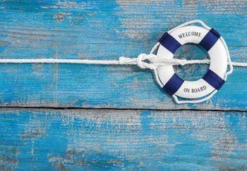 Fototapeta - Záchranný kruh na lodí (T030255T368280A)