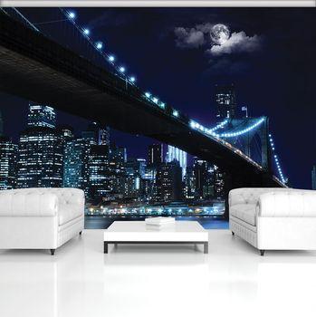 Fototapet - Oașul și podul noaptea (T030256T368280A)