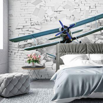 Fototapet - Avionul zboară din perete 3D (T030301T368280A)