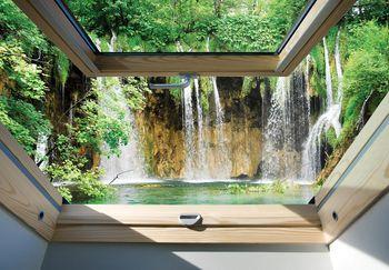 Fototapeta - Pohled na okno vodopádu (T030302T368280A)