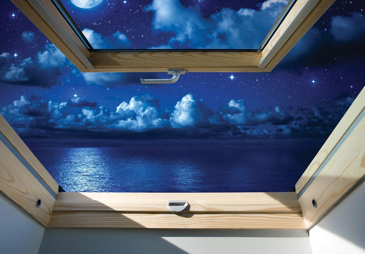 Fototapeta - Hvězdné obloha  - pohled z okna (T030303T254184B)