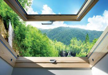 Fotótapéta - Kilátás a hegyekre és erdőkre (T030307T368280A)