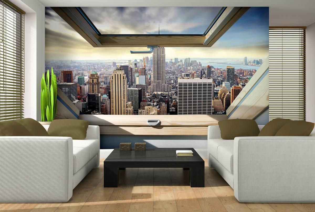 Fototapeta - New York - panoramatický výhled z okna (T030309T254184B)