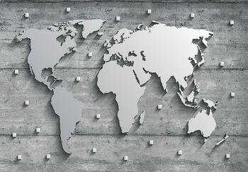 Fototapeta - Beton a Metal - mapa (T030314T368280A)