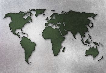 Fototapeta - Zelená mapa sveta (T030316T254184A)