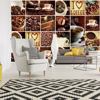 Fototapeta - I Love Coffee - koláž (T030328T254184A)