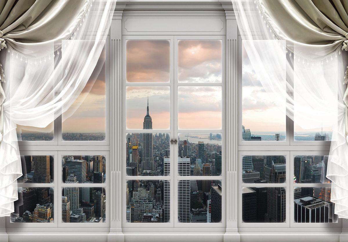 Fototapeta - New York - výhled z okna (T030402T1525104B)