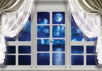 Fototapeta - Obloha z okna v noci (T030404T460300A)